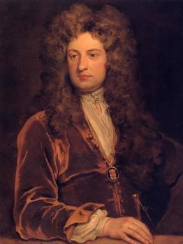 Porträt von John Vanbrugh von Godfrey Kneller