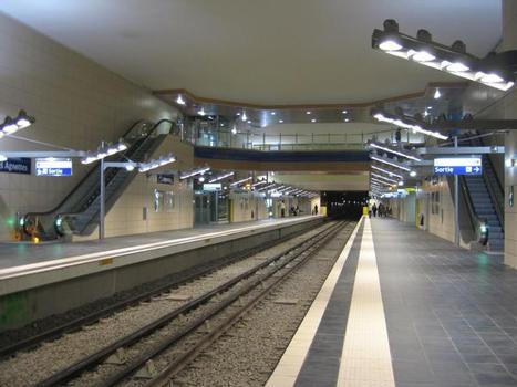 Station de métro Les Agnettes