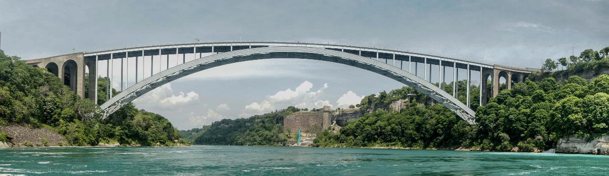 Lewiston–Queenston Bridge seen from the Niagara River gorge