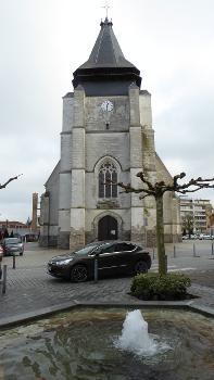 Tour et clocher de l'Église Saint-Vincent de Marcq-en-Barœul