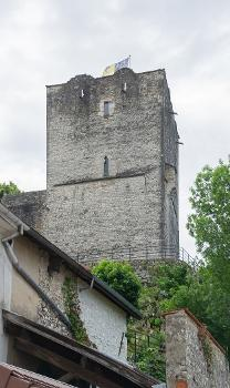 Medieval tower in Morestel, Isère, France