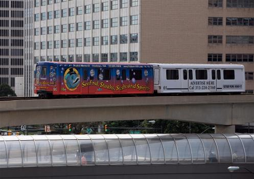 The Detroit People Mover from the Renisance Center.