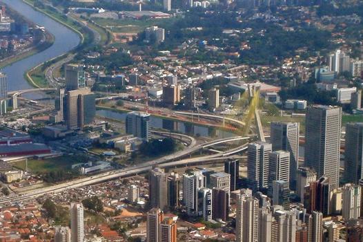 Bridge Octavio Frias de Oliveira, Sao Paulo city
