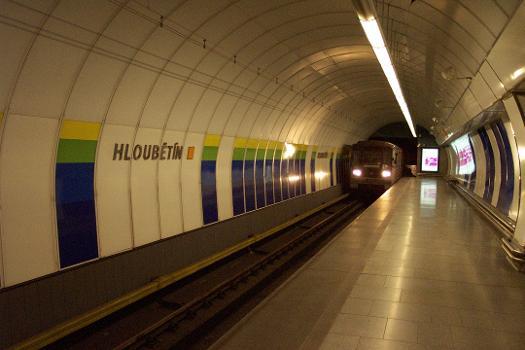Hloubetín Metro Station