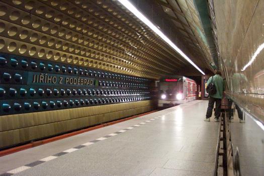 Jirího z Podebrad Metro Station