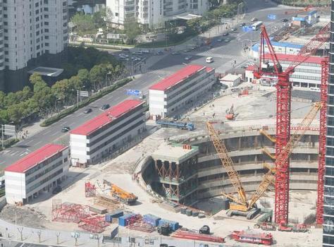 Baugrube des Shanghai Towers