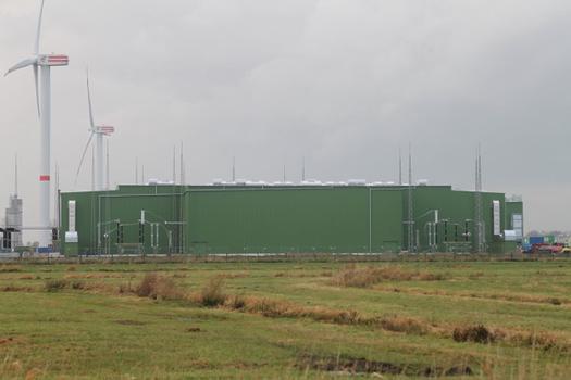 Stromrichterhalle der HGÜ Helwin1 Büttel