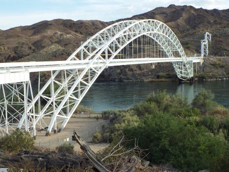 Historic NRHP Old Trails Bridge built in 1914 in Topock, Arizona