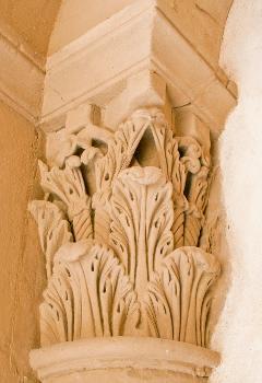 Chapiteau roman de l'église Saint-Jean-Baptiste de Valence (Drôme)