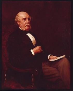 Portrait of William Henry Barlow (1812–1902), President of the Institution of Civil Engineers, 1879–1880