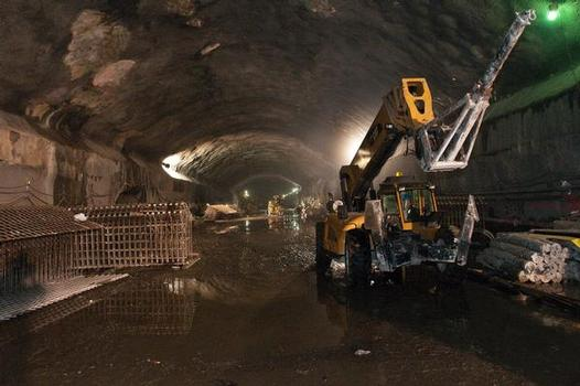 View of construction of the caverns that will house the new platforms at Grand Central Terminal, New York City