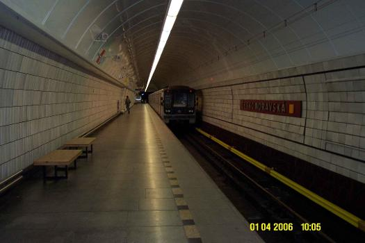 Ceskomoravská Metro Station