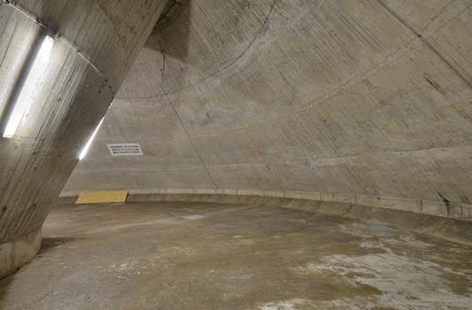 Inside the foundation of Stuttgart's TV tower