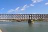 Alte Eisenbahnbrücke über die Save