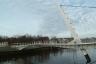 Fußgänger-Klappbrücke über den Vegesacker Hafen