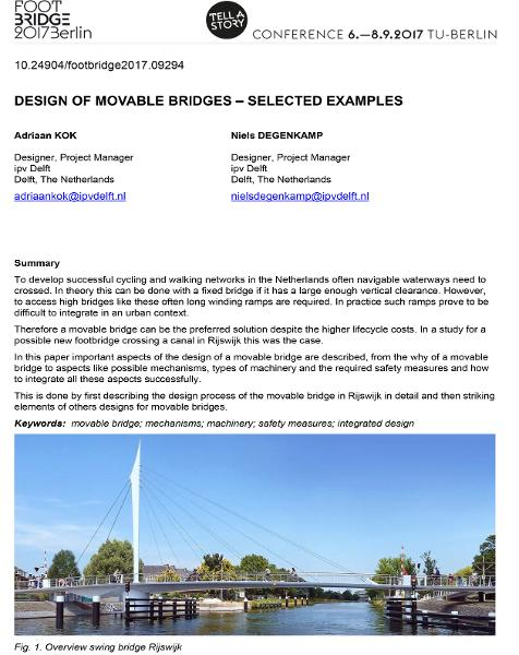 Design of Movable Bridges - Selected Examples
