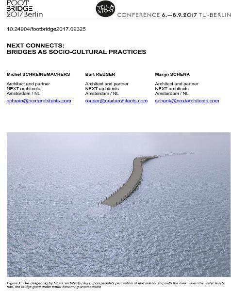NEXT Connects: Bridges as Socio-Cultural Practices