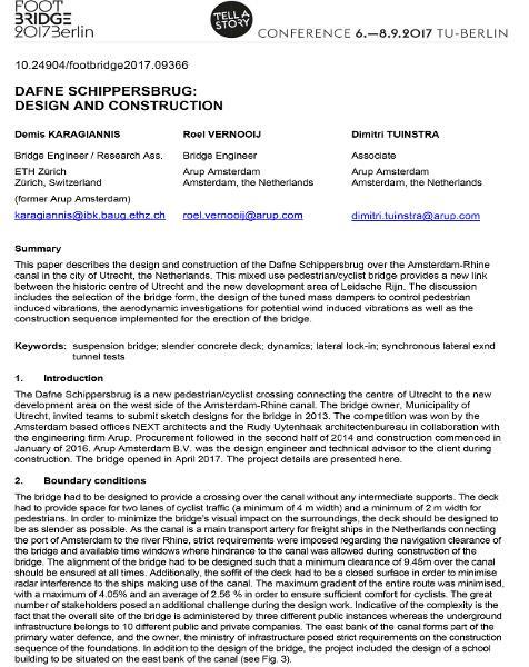 Dafne Schippersbrug: Design and construction
