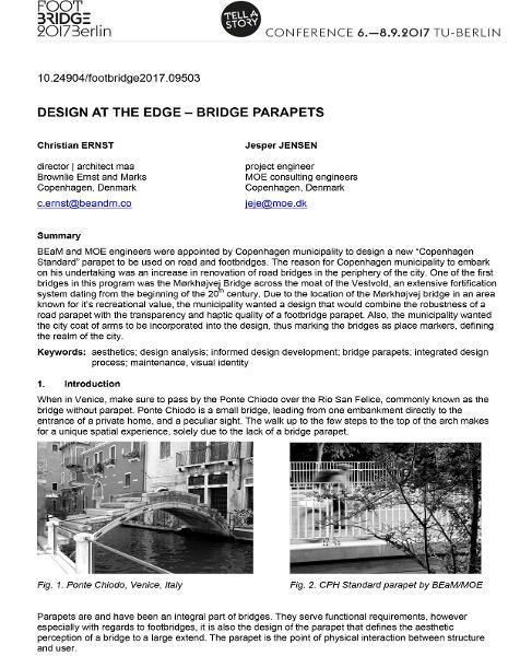 Design at the Edge - Bridge Parapets