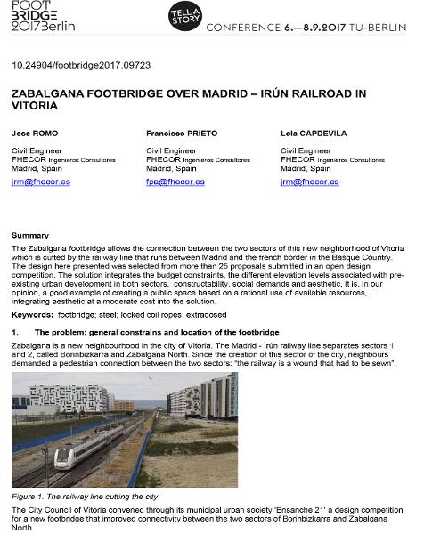 Zabalgana Footbridge Over Madrid-Irún Railroad in Vitoria