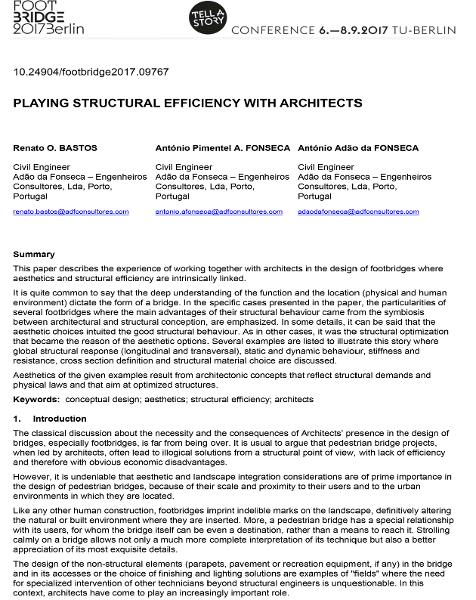 Playing Structural Efficiency with Architects