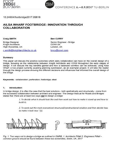 Ailsa Wharf Footbridge: Creativity Through Collaboration