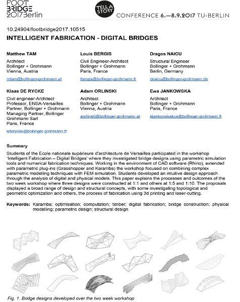 Intelligent Fabrication - Digital Bridges