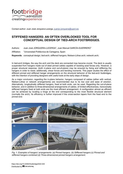 Stiffened Hangers: an Often Overlooked Tool for Conceptual Design of Tied-Arch Footbridges