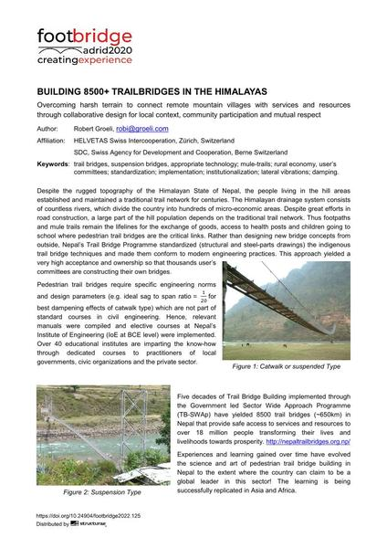 Building 8500+ Trail Bridges in the Himalayas