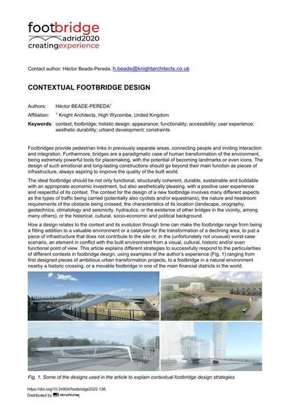Contextual Footbridge Design