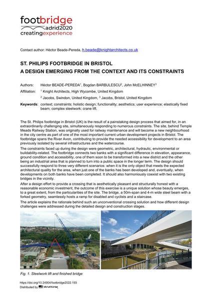 St. Philips Footbridge in Bristol