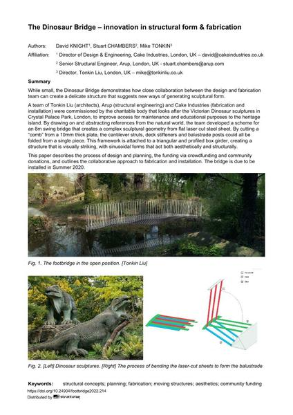 The Dinosaur Bridge – innovation in structural form & fabrication