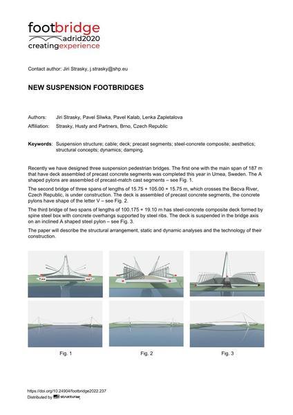 New Suspension Footbridges