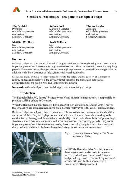 German railway bridges – new paths of conceptual design