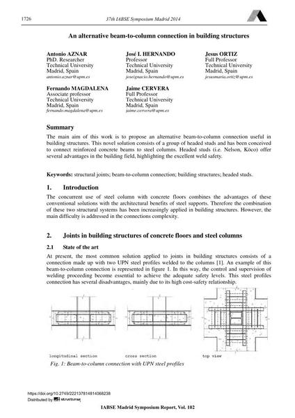 An alternative beam-to-column connection in building structures