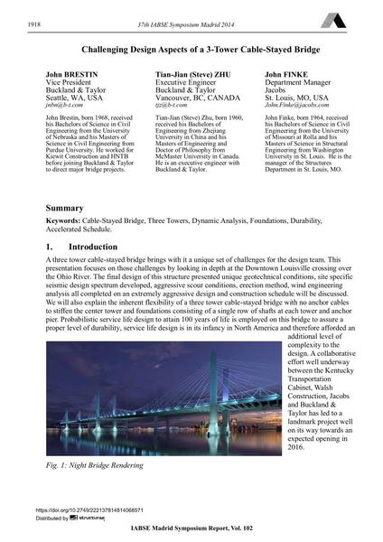 Challenging Design Aspects of a 3-Tower Cable-Stayed Bridge