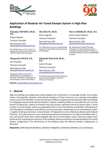 Application of Modular Air-Tuned Damper System in High-Rise Buildings