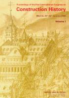 Proceedings of the First International Congress on Construction History (3 Volumes)