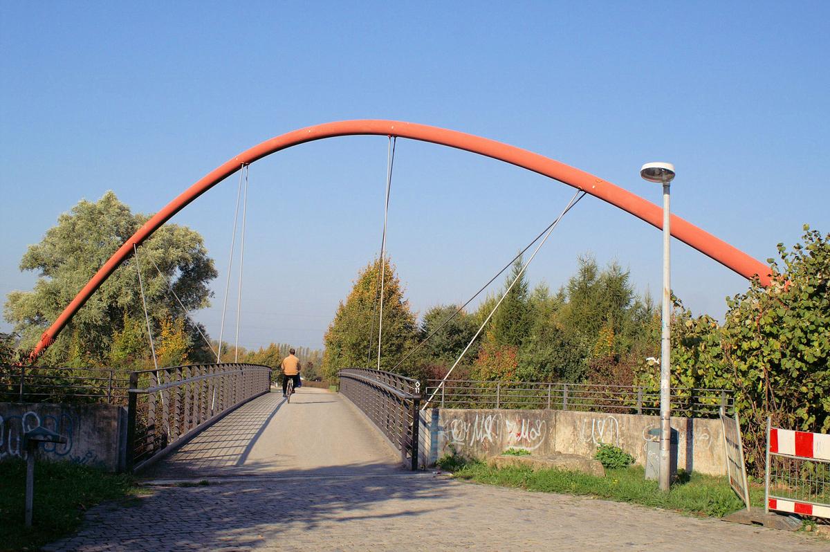Fußgängerbrücke, Nordsternpark, Gelsenkirchen.