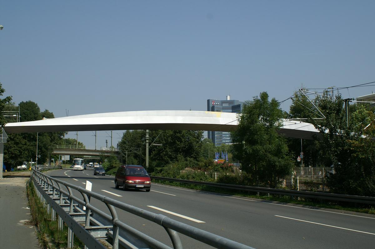Ruhrallee (B54) Pedestrian and Bicycle Bridge, Dortmund