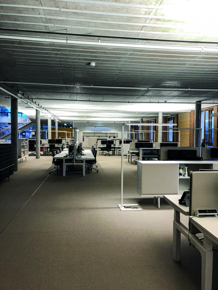 Alnatura Großraumbüro: Sichtbetonoptik mit Sorp 10®
