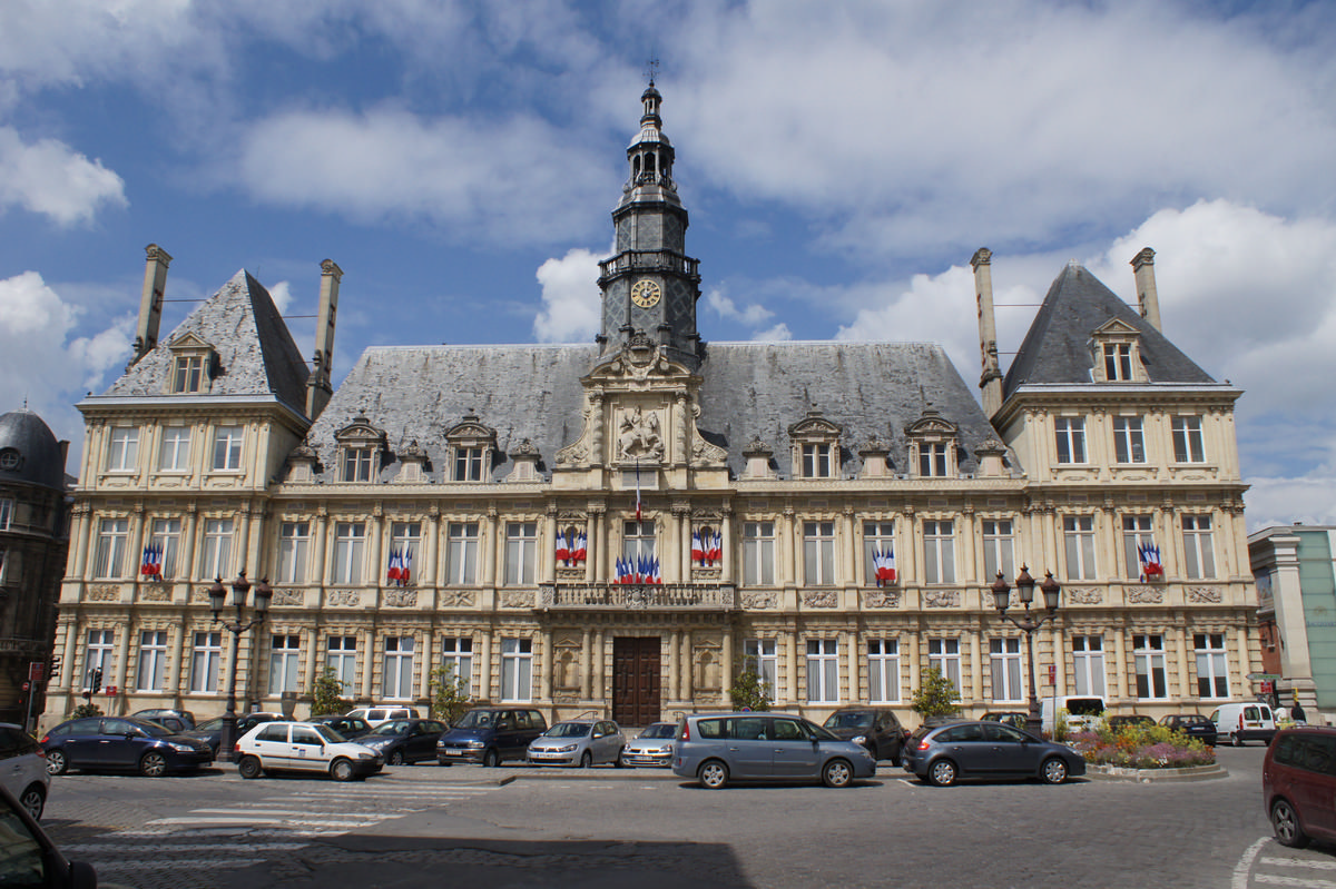 Reims city hall reims structurae for Piscine reims