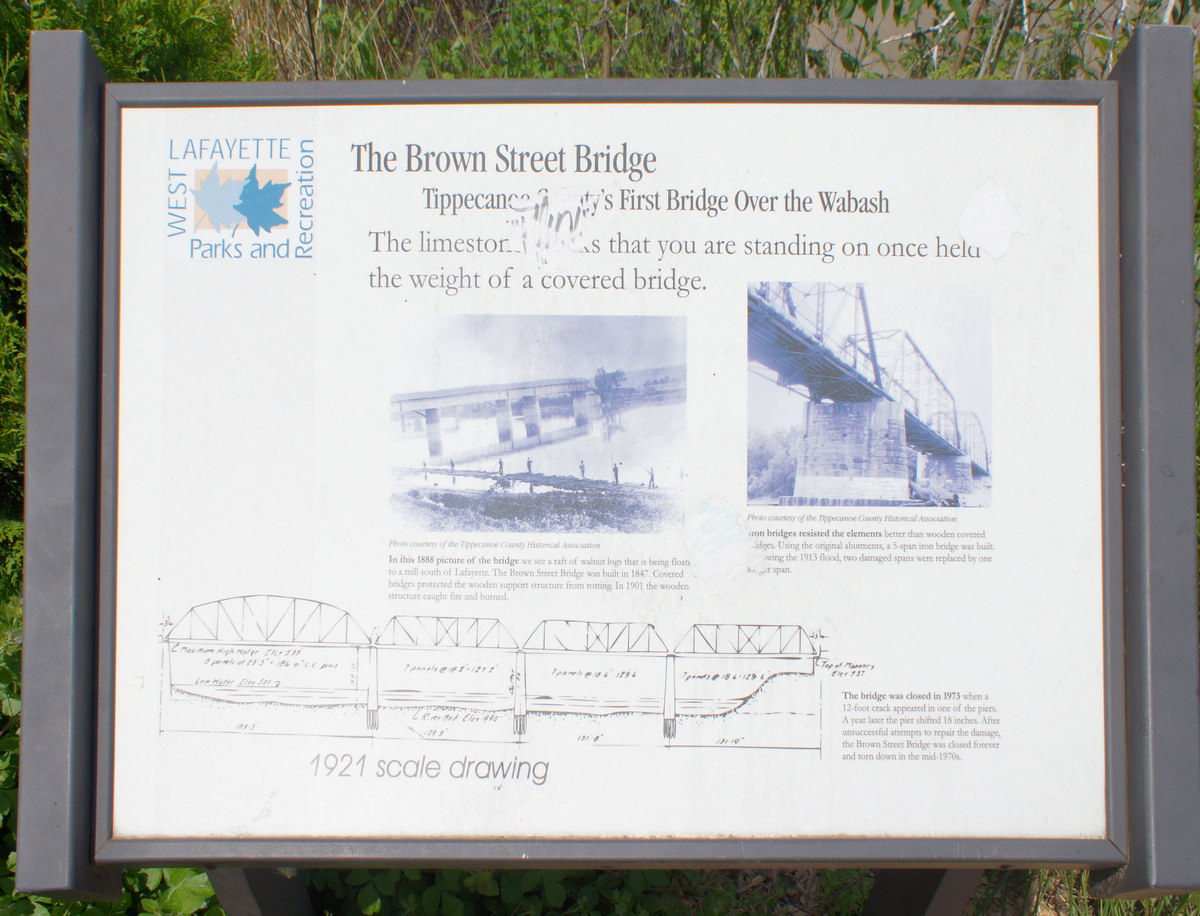 Plaque commemorating Brown Street Bridge