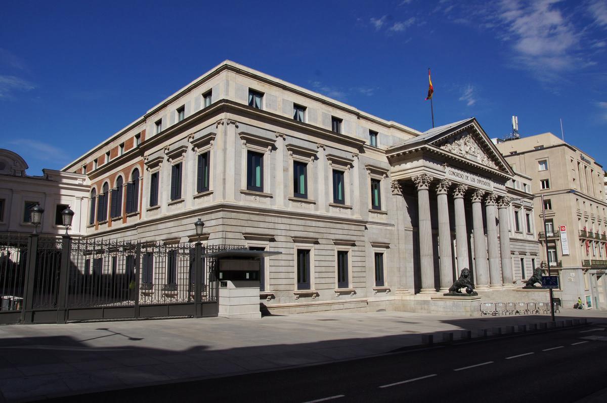 Palacio De Las Cortes Madrid 1850 Structurae
