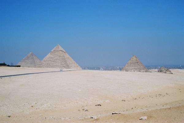 Pyramids of Cheops, Chefren and Mycerinus