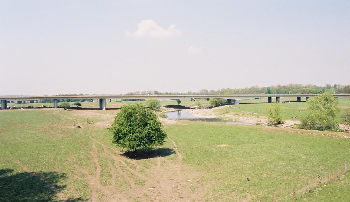 Autobahnbrücke A40 über die Ruhr, Mülheim an der Ruhr