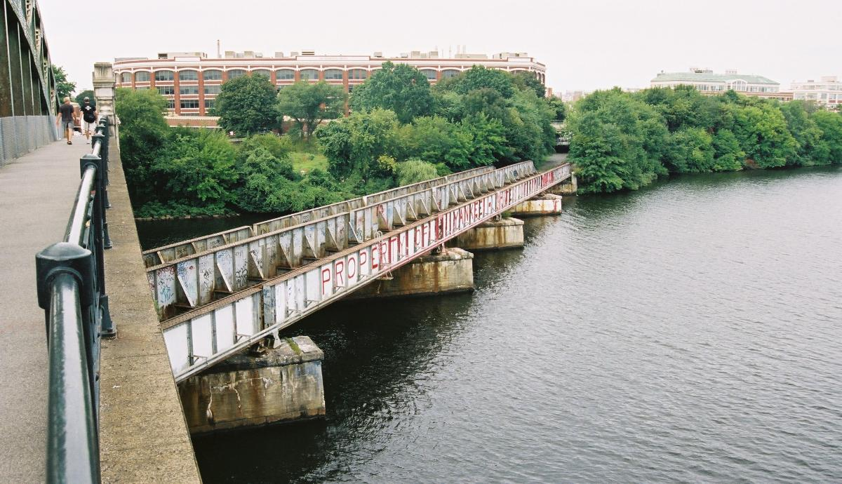 Charles River Railroad Bridge, Boston/Cambridge, Massachusetts.