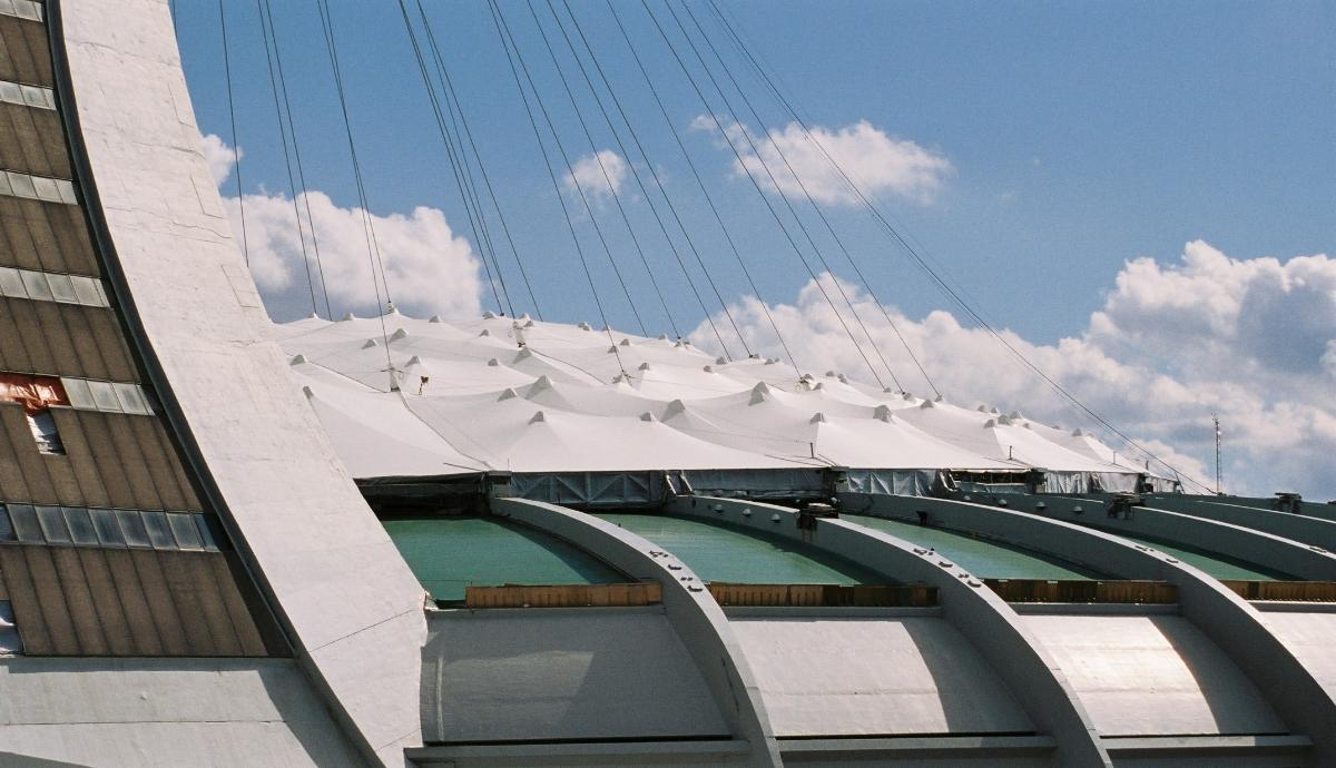 Roof of the Olympic Stadium, Montréal, Québec.