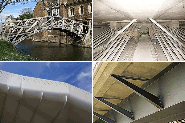 Bridges by construction materials