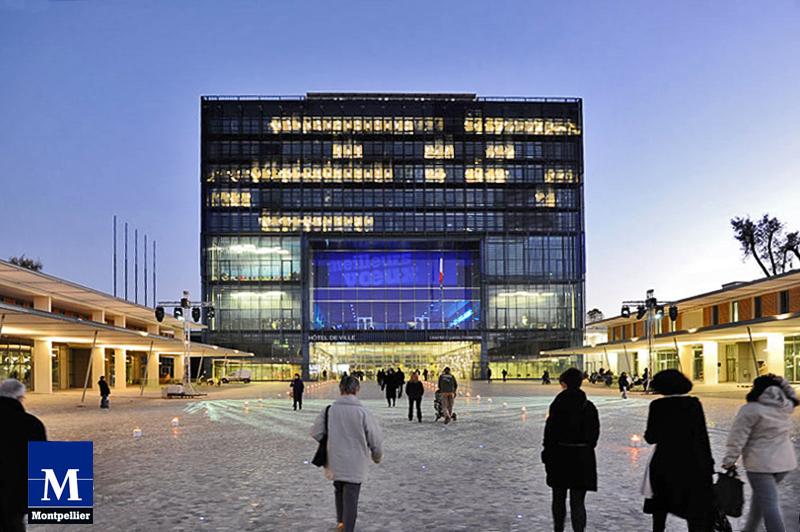 H tel de ville de montpellier montpellier 2011 structurae - Piscine place de l europe montpellier ...